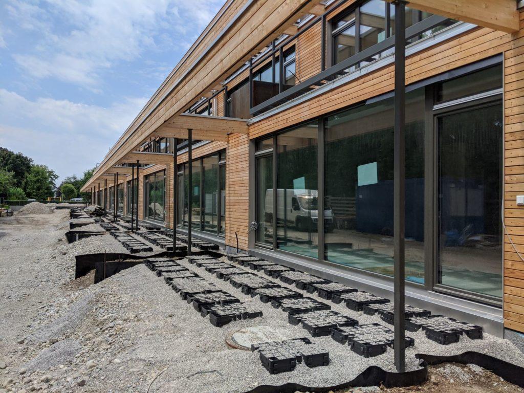 21. Juli 2020: Der Unterbau der Terrassen.