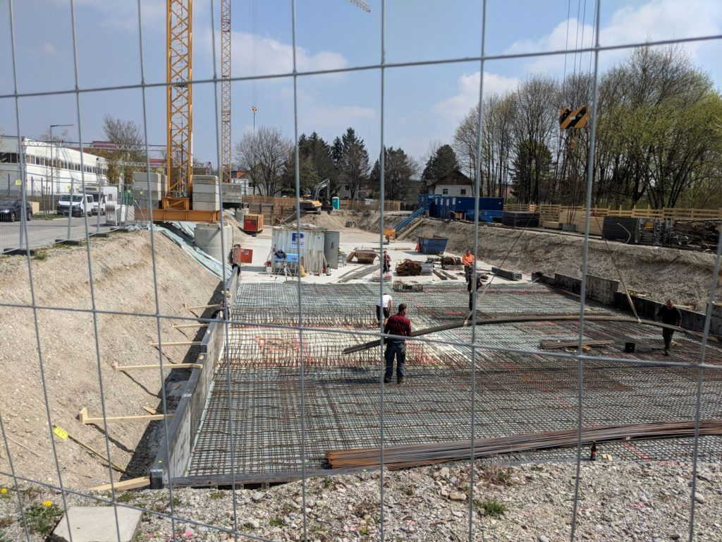 15. April 2019: Das Fundament entsteht.